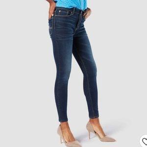 Levi's Denizen Modern Skinny Dark Blue Jeans